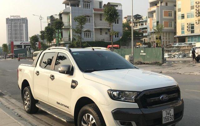 Cần bán xe Ford Ranger Wildtrak 3.2 4x4 AT đời 2016, màu trắng, xe chính chủ, nhập khẩu Thái Lan, liên hệ: 09822559662