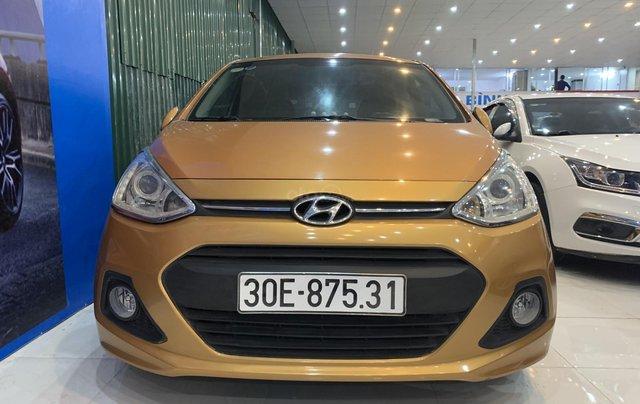Cần bán Hyundai Grand i10 1.2AT năm 2016, màu cam, nhập khẩu0
