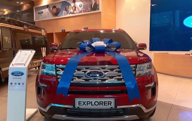 Bán ô tô Ford Explorer Limited đời 2019, màu đỏ, nhập khẩu nguyên chiếc0