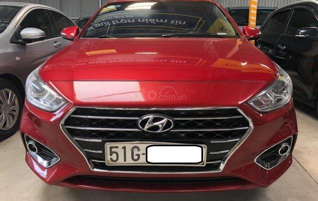 Bán Hyundai Accent bản đủ đời 2018, số sàn màu đỏ, giá chỉ 476 triệu0
