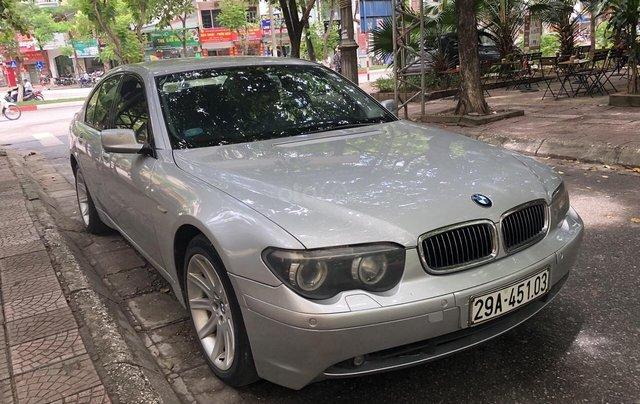 Cần bán xe BMW 7 Series 730D máy dầu 2 cầu đời 2004, màu bạc, nhập khẩu nguyên chiếc, liên hệ 09767809990