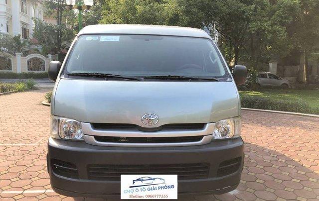 Bán ô tô Toyota Hiace 2010, màu bạc số sàn giá cạnh tranh0