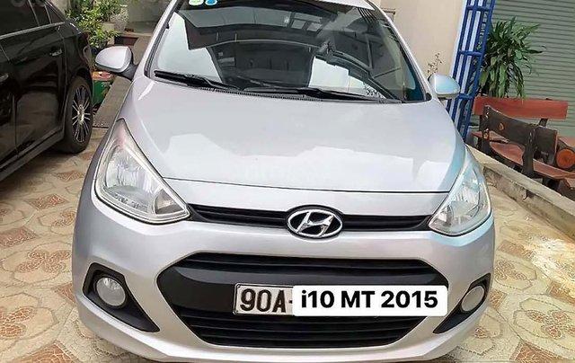 Cần bán gấp Hyundai Grand i10 1.0 MT năm 2015, màu bạc, nhập khẩu nguyên chiếc 0