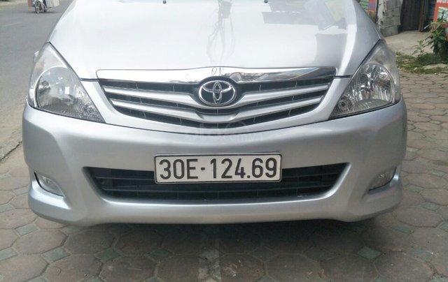 Bán Toyota Innova G sản xuất 2009 số sàn biển HN chính chủ, công chức chạy ít xe còn rất đẹp0
