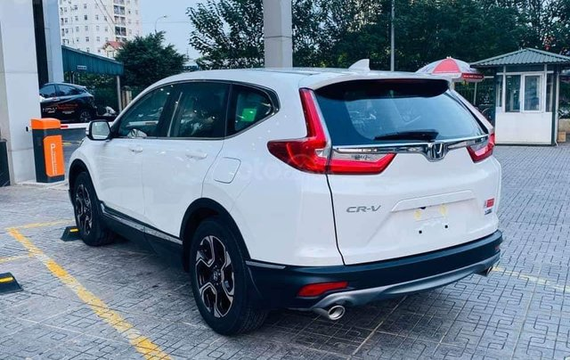 Honda ô tô Long Biên - Xả kho cuối năm chiếc xe Honda CR V 1.5L đời 2019, màu trắng - Giao nhanh toàn quốc1