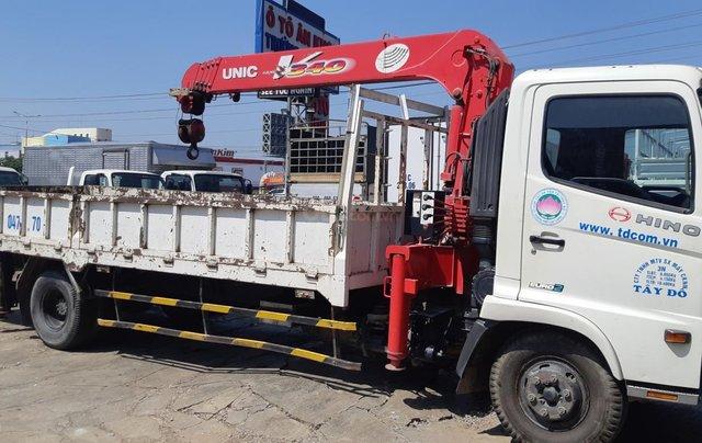 Xe tải Hino FC9JLSW gắn cần cẩu Unic 3 tấn 5 khúc đời 20150