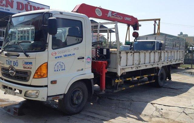 Xe tải Hino FC9JLSW gắn cần cẩu Unic 3 tấn 5 khúc đời 201513