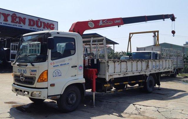 Xe tải Hino FC9JLSW gắn cần cẩu Unic 3 tấn 5 khúc đời 201512