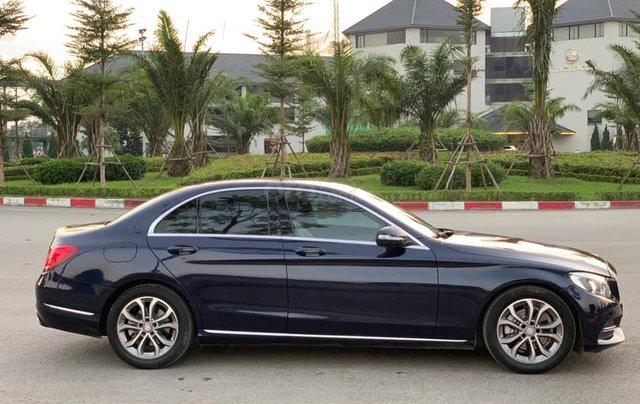 Cần bán Mercedes C200 đời 2015 màu xanh cavansite nội thất kem0