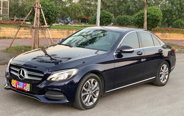 Cần bán Mercedes C200 đời 2015 màu xanh cavansite nội thất kem2