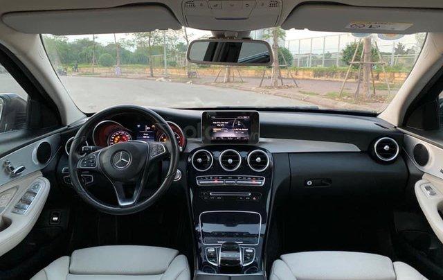 Cần bán Mercedes C200 đời 2015 màu xanh cavansite nội thất kem6