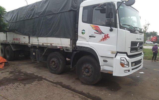 Bán xe tải Hoàng Huy 4 chân cũ, màu trắng, tải 17,9 tấn máy cực chất - Liên hệ 09317899590