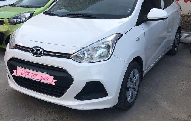 Cần bán lại xe Hyundai Grand i10 đăng ký 2016, màu trắng nhập khẩu nguyên chiếc giá 315 triệu đồng - Liên hệ 09646356860