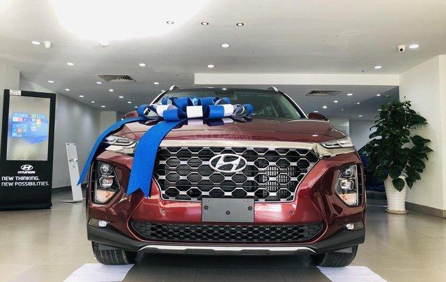 Hyundai Santa Fe 2.4 máy xăng bản cao cấp, đời 2019, màu đỏ, Giảm giá trực tiếp tiền mặt + Trả góp 0%0