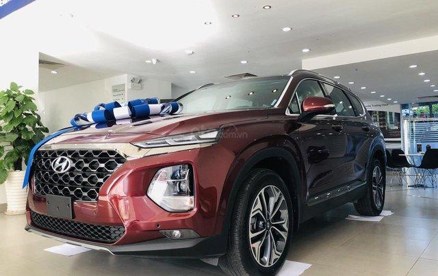 Hyundai Santa Fe 2.4 máy xăng bản cao cấp, đời 2019, màu đỏ, Giảm giá trực tiếp tiền mặt + Trả góp 0%2