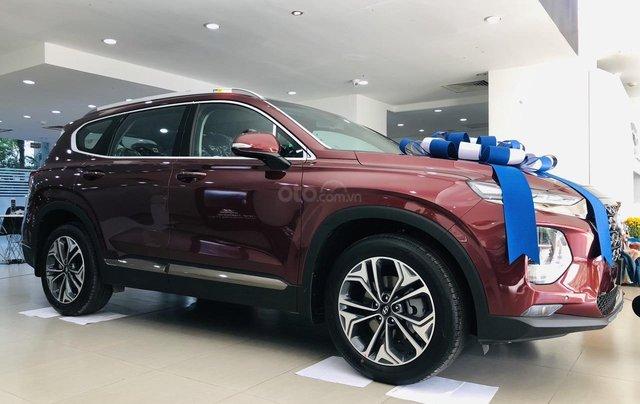 Hyundai Santa Fe 2.4 máy xăng bản cao cấp, đời 2019, màu đỏ, Giảm giá trực tiếp tiền mặt + Trả góp 0%4