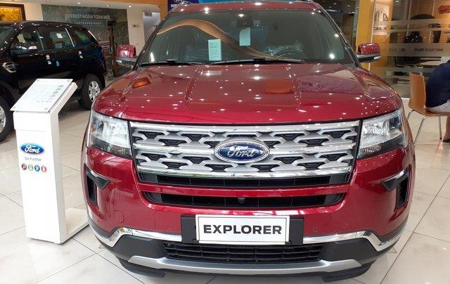 Bán Ford Explorer Limited đời 2018, màu đỏ, nhập khẩu nguyên chiếc0