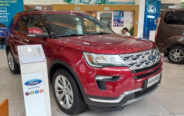 Bán Ford Explorer Limited đời 2018, màu đỏ, nhập khẩu nguyên chiếc1