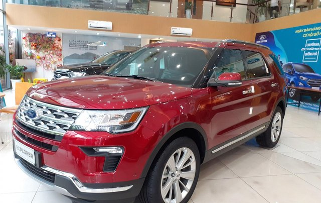 Bán Ford Explorer Limited đời 2018, màu đỏ, nhập khẩu nguyên chiếc2
