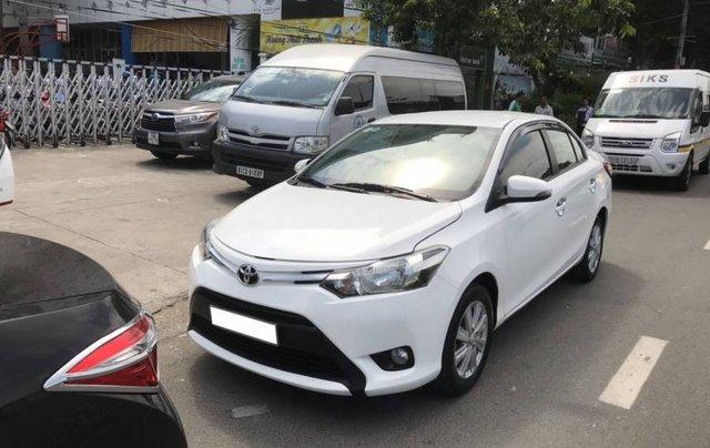 Cần bán Toyota Vios 1.5E CVT sản xuất năm 2016, màu trắng, số tự động0