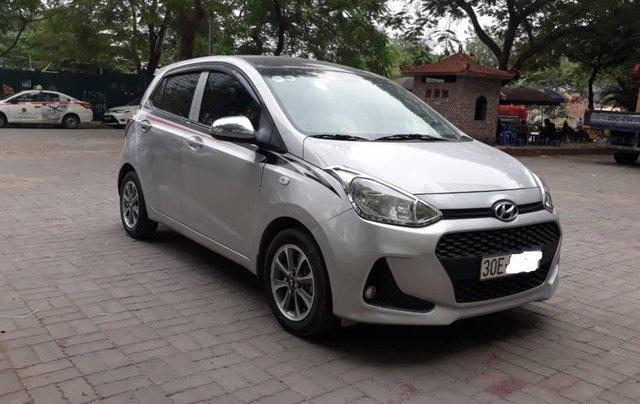 Cần bán Hyundai Grand i10 năm 2017, màu bạc, nhập khẩu 0