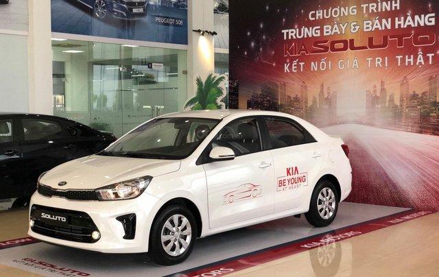 Chỉ với 140 triệu, nhận xe vi vu ngay, Kia Soluto 1.4L Deluxe sản xuất năm 2019, màu trắng0