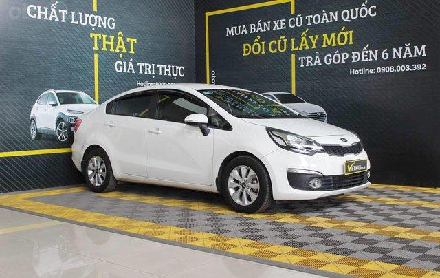 Bán Kia Rio 1.4AT 2016, xe màu trắng, cực đẹp0