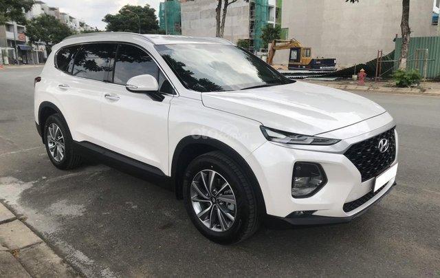 Giá bán thấp nhất thị trường, Hyundai Santa Fe 2.4 cao cấp đời 2019, màu trắng