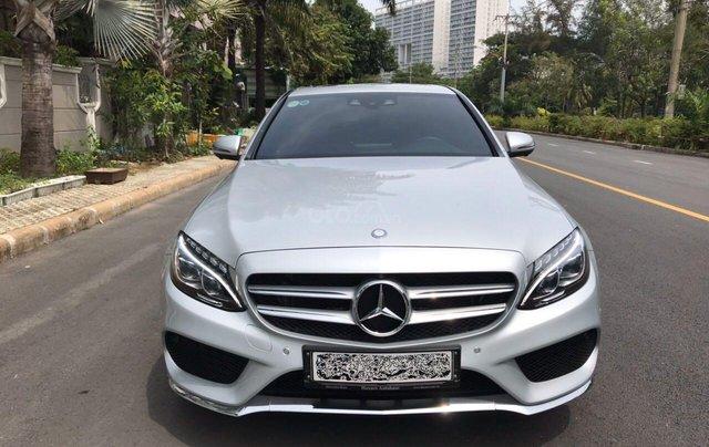 Bán ô tô Mercedes-Benz C300 AMG 2017, màu bạc còn mới, giá 1 tỷ 580 triệu đồng0