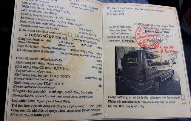 Mercedes Benz MB100 2002 số sàn 9 chỗ, giá sốc 149 triệu, LH: 09063445696