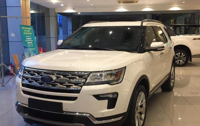 Cần bán nhanh chiếc xe ô tô Ford Explorer năm sản xuất 2019, màu trắng.0