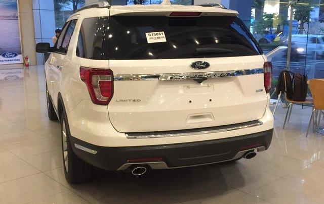 Cần bán nhanh chiếc xe ô tô Ford Explorer năm sản xuất 2019, màu trắng.5
