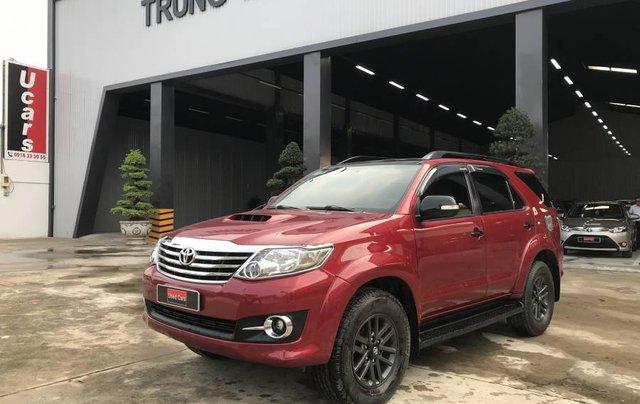 Bán Toyota Fortuner G sản xuất 2015, màu đỏ số sàn, giá chỉ 830 triệu1