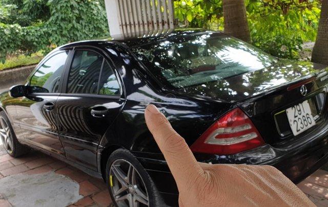 Bán xe Mercedes-Benz C class năm 2003, màu đen xe gia đình giá tốt 223 triệu đồng0