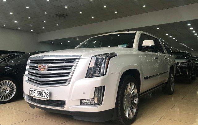 Bán Cadillac Escalade ESV Platinum 2016, màu trắng nội thất nâu2