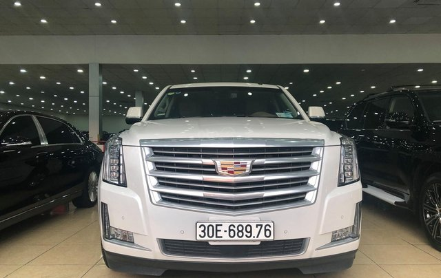 Bán Cadillac Escalade ESV Platinum 2016, màu trắng nội thất nâu1