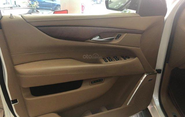 Bán Cadillac Escalade ESV Platinum 2016, màu trắng nội thất nâu3