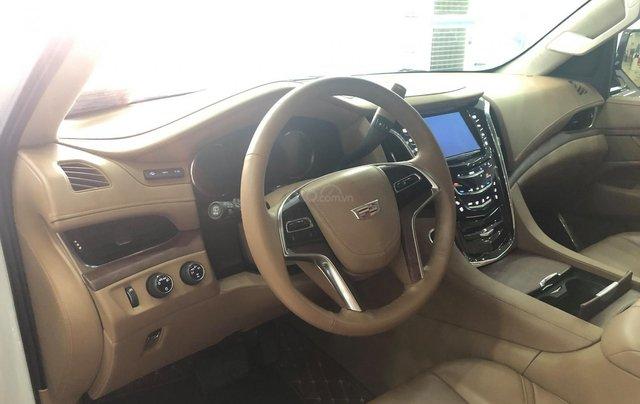Bán Cadillac Escalade ESV Platinum 2016, màu trắng nội thất nâu5