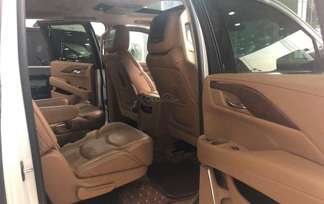 Bán Cadillac Escalade ESV Platinum 2016, màu trắng nội thất nâu9