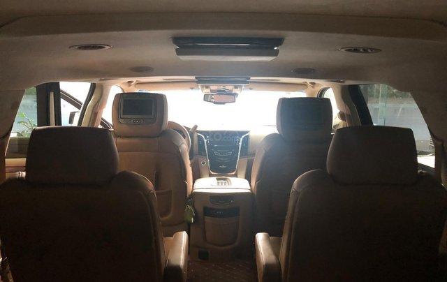 Bán Cadillac Escalade ESV Platinum 2016, màu trắng nội thất nâu12