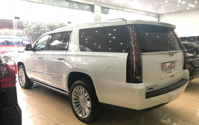 Bán Cadillac Escalade ESV Platinum 2016, màu trắng nội thất nâu15