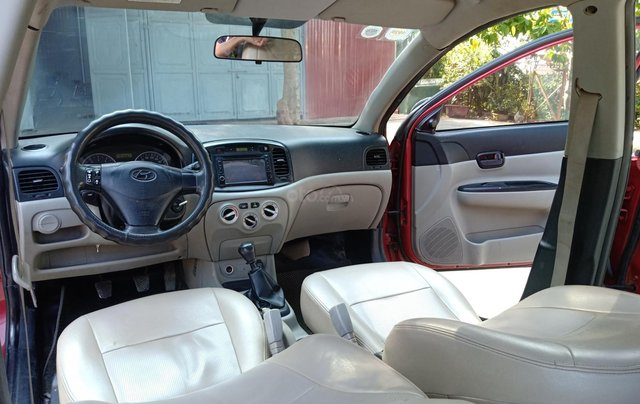 Bán Hyundai Verna năm 2008, màu đỏ xe gia đình, giá 145 triệu đồng8