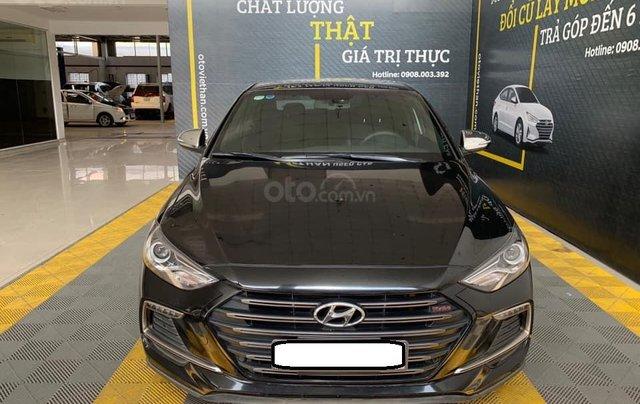 Bán xe Hyundai Elantra Turbo Sport đời 2018, màu đen, giá 668tr0