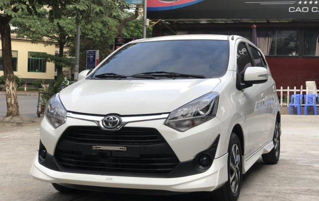 Toyota Wigo 1.2 G AT 2018, màu trắng, số tự động, trả góp0