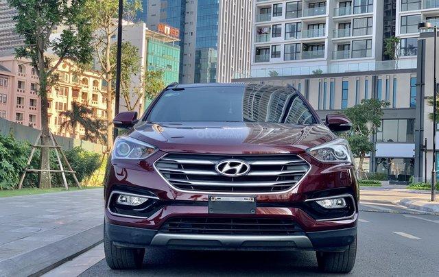 Cần bán Hyundai Santa Fe 2.4 4WD sản xuất 2018, màu đỏ8