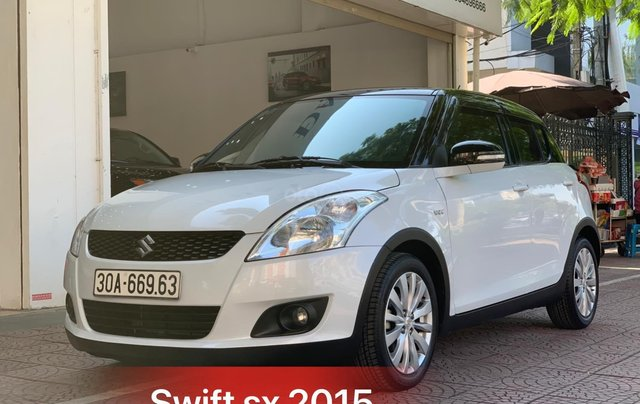 Bán ô tô Suzuki Swift sản xuất 2015, màu trắng, giá chỉ 410 triệu1