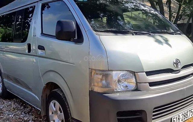 Cần bán lại xe Toyota Hiace năm 2008, màu bạc0