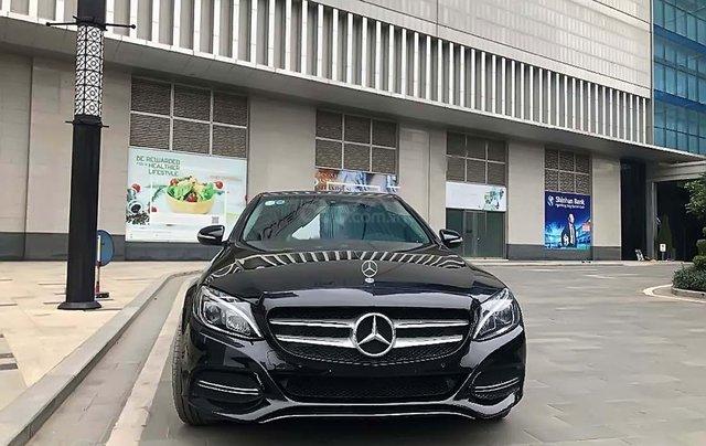 Cần bán Mercedes C200 sản xuất năm 2015, màu đen, xe gia đình0