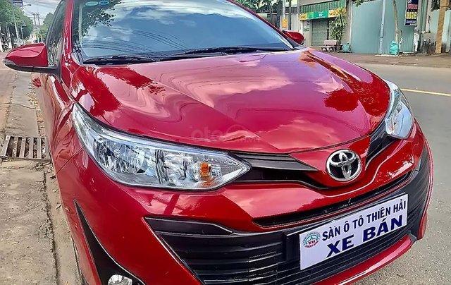 Cần bán Toyota Vios 1.5E CVT năm sản xuất 2019, màu đỏ, xe còn mới4