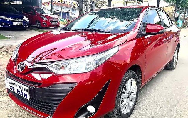 Cần bán Toyota Vios 1.5E CVT năm sản xuất 2019, màu đỏ, xe còn mới0